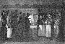 """""""Dukhobors chanting their Psalms."""" 1865"""