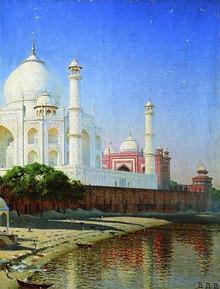 """""""Taj Mahal. Mausoleum in Agra."""" 1874-1876"""