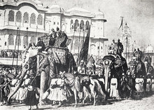"""""""The State Procession of the Prince of Wales into Jaipur.» 1876"""