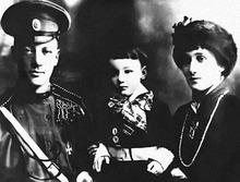 Anna Akhmatova with husband Nikolay Gumilev and son Lev in 1916 (image from akhmatova.org)