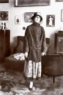Anna Akhmatova in Tashkent, Uzbekistan (image from hrono.ru)