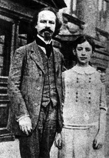 Konstantin Balmont and his daughter Mirra