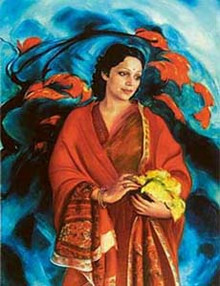Svetoslav Roerich's painting of his wife, 'Mme Devika Rani Roerich'