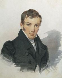 Petr Sokolov  Portrait of Vasily Zhukovsky
