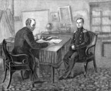 Цесаревич Александр Николаевич c наставником В.А. Жуковским. Гравюра.