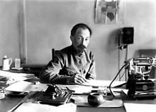 Felix Dzerzhinsky at work (image from lenta.ru)