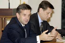 Mikhail Zurabov and Aleksandr Zhukov (Photo from http://kremlin.ru)