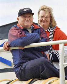 Yury Luzhkov and Elena Baturina (Photo from http://mdom.biz)