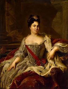 Portrait of Catherine I by Jean-Marc Nattier
