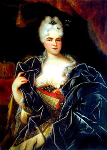 Portrait of Catherine I by Ivan Nikitin