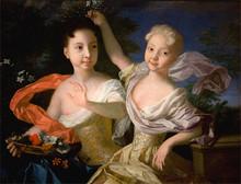 Луи Каравакк. Портрет царевен Анны Петровны и Елизаветы Петровны. 1717