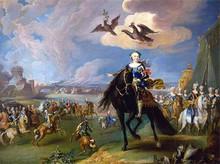 Преннер Г.К. Конный портрет императрицы Елизаветы Петровны со свитой