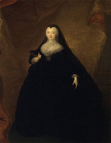 Georg Khristof Grooth Portrait of the Empress Elizaveta Petrovna in a Black Masquerade Domino. 1748 г.