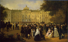 Leib-Guards Reception at the Constantine Palace in Strelna, St Petersburg. A 19th-century painting.