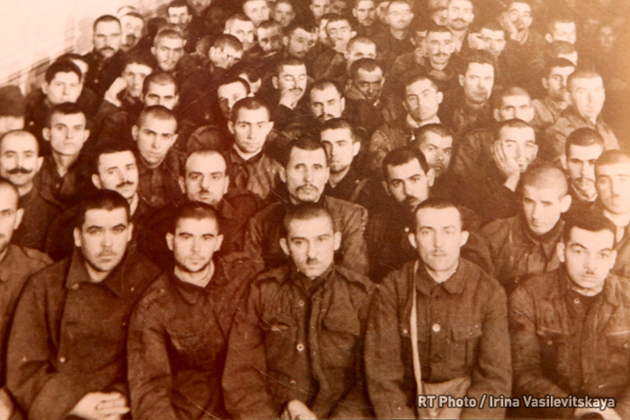 Romanian POWs working in a joinery shop, Yuzhsky detention camp #165, Ivanovo region, May 1943