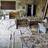 Upturned desks in a former classroom at School #1