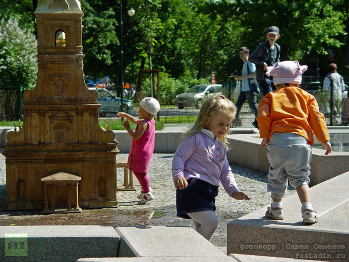 St. Petersburg's miniature copy: This new attraction instantly became a hit with children