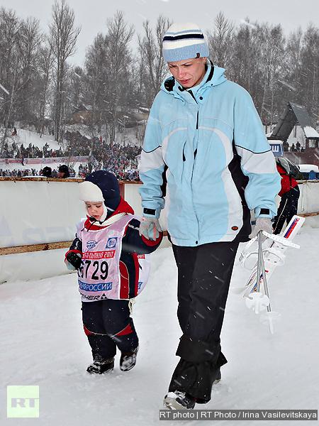 Skiing is more enjoyable than walking on soft snow