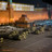 Armoured vehicles pass Lenin's tomb on Red Square