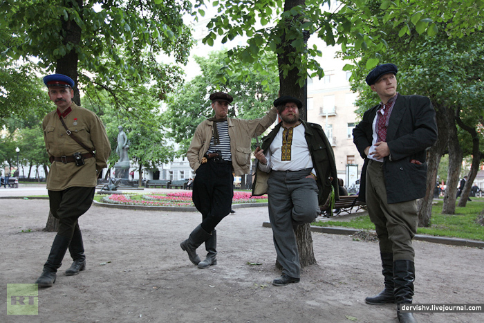 Street of History: Tverskoy Boulevard in Moscow is a scene for a historical pageant covering different epochs