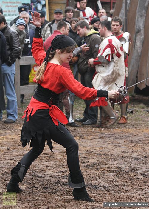Dances with swords.
