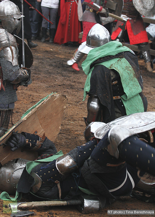 Knight fight: medieval sport for modern heroes: Two down, three to go!