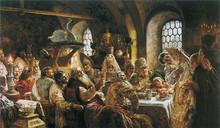 «Боярский свадебный пир в XVII веке» картина Константина Маковского 1883