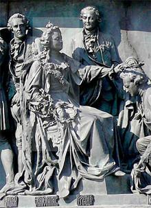 Екатерина II и Григорий Потёмкин на Памятнике «1000-летие России» в Великом Новгороде (Photo by Dar Veter)