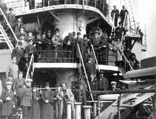 Четвертая Государственная Дума. Депутаты Думы на борту военного судна. 5 мая 1913 г