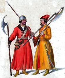 Русские стрельцы. Картина XIX в