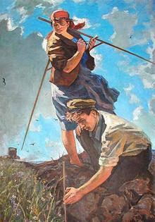 Ф. Маляев.  Целина . 1958 г.