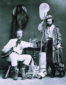 Ernst Haeckel and his assistant Nicholas Miklouho-Maclay, photographed in the Canary Islands in 186