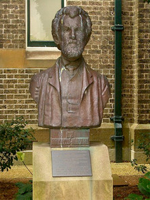 Bust of Nikolay Miklukho-Malkay in front of the Macleay Museum, Science Road on campus of the University of Sydney.