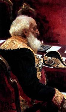 П. П. Семёнов-Тян-Шанский. Портрет работы И. Репина (1901)