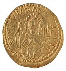 First coin of an Rus: «zlatnik» of Grand Prince of Kiev Vladimir I