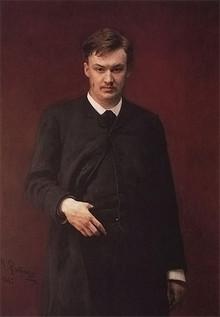 Portrait of the composer Alexander Konstantinovich Glazunov.
