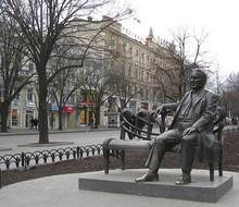 Памятник Леониду Утёсову в Одессе. (Photo from http://ru.wikipedia.org)