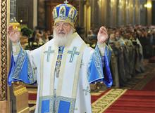 Патриаршее служение в Казанском соборе Петербурга (Photo from http://www.patriarchia.ru)