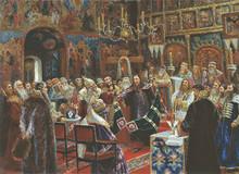 Court over patriarch Nikon. Sergey Miloradovich  1885