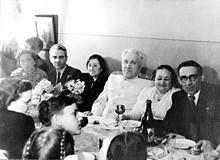Mstislav Keldysh with family.