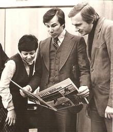 Sergey Cheskidov with Irina Rodnina and Aleksandr Zaitsev. (Photo from http://cheskidov.com)