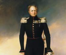 Full-dress portrait of Emperor Alexander I (image from portrets.ru)