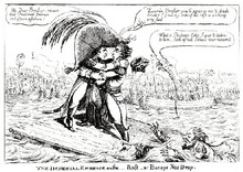 Imperial hug– a cartoon about the meeting of Alexander I and Napoleon I of France in Tilsit in 1807