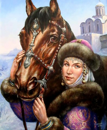 Painting by Shchrilyov (image from www.artlib.ru)