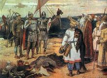 Ryurik's arrival to Ladoga by V. Vasnetsov, 19th century